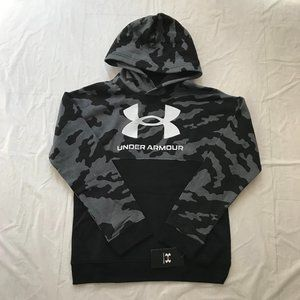 NEW Under Armour Boy's Pullover Hoodie Fleece Gray Camo Youth Size XL Sporty NWT